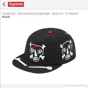 New Supreme x Clayton Patterson Skulls 5-Panel Hat